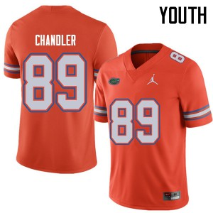 Jordan Brand Youth #89 Wes Chandler Florida Gators College Football Jerseys Orange 405680-215