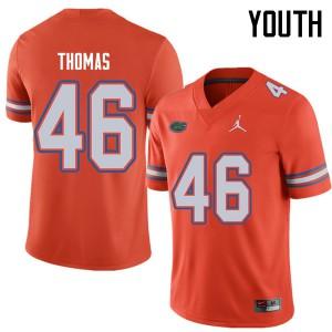 Jordan Brand Youth #46 Will Thomas Florida Gators College Football Jerseys Orange 781861-509