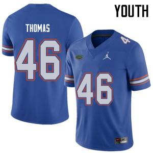 Jordan Brand Youth #46 Will Thomas Florida Gators College Football Jerseys Royal 323530-210