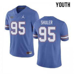 Jordan Brand Youth #95 Adam Shuler Florida Gators College Football Jerseys Blue 716745-840