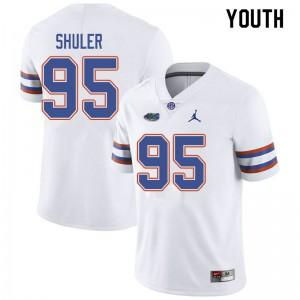 Jordan Brand Youth #95 Adam Shuler Florida Gators College Football Jerseys White 501636-961