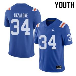 Jordan Brand Youth #34 Alex Anzalone Florida Gators Throwback Alternate College Football Jerseys 905015-405