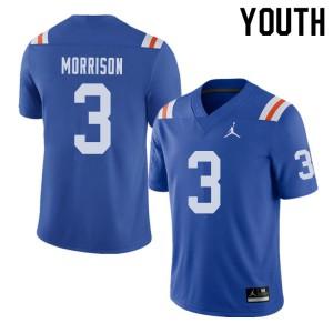 Jordan Brand Youth #3 Antonio Morrison Florida Gators Throwback Alternate College Football Jerseys 412412-403
