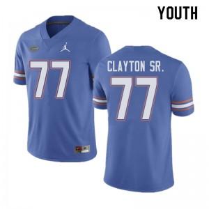 Jordan Brand Youth #77 Antonneous Clayton Sr. Florida Gators College Football Jerseys Blue 658154-464