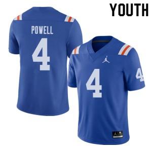 Jordan Brand Youth #4 Brandon Powell Florida Gators Throwback Alternate College Football Jerseys 771719-655