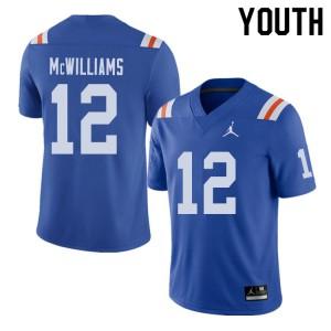 Jordan Brand Youth #12 C.J. McWilliams Florida Gators Throwback Alternate College Football Jerseys 448332-610