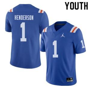 Jordan Brand Youth #1 CJ Henderson Florida Gators Throwback Alternate College Football Jerseys 242626-739