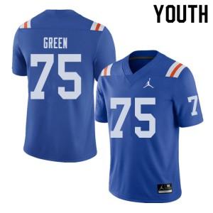 Jordan Brand Youth #75 Chaz Green Florida Gators Throwback Alternate College Football Jerseys Royal 708199-881