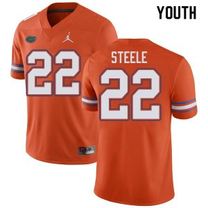 Jordan Brand Youth #22 Chris Steele Florida Gators College Football Jerseys Orange 946813-849