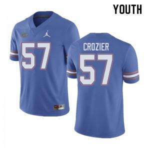 Jordan Brand Youth #57 Coleman Crozier Florida Gators College Football Jerseys Blue 910174-437