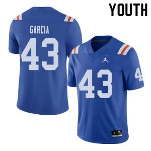Jordan Brand Youth #43 Cristian Garcia Florida Gators Throwback Alternate College Football Jerseys 698068-950