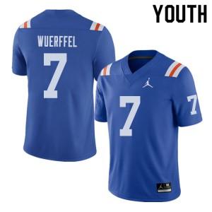 Jordan Brand Youth #7 Danny Wuerffel Florida Gators Throwback Alternate College Football Jerseys 940360-291