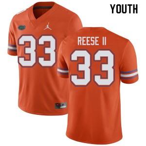 Jordan Brand Youth #33 David Reese II Florida Gators College Football Jerseys Orange 582513-142