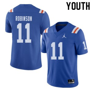 Jordan Brand Youth #11 Demarcus Robinson Florida Gators Throwback Alternate College Football Jerseys 785370-854