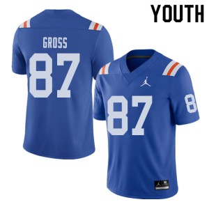 Jordan Brand Youth #87 Dennis Gross Florida Gators Throwback Alternate College Football Jerseys 574946-302