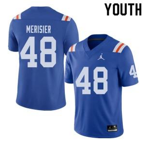 Jordan Brand Youth #48 Edwitch Merisier Florida Gators Throwback Alternate College Football Jerseys 686223-826