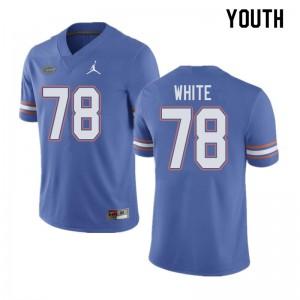 Jordan Brand Youth #78 Ethan White Florida Gators College Football Jerseys Blue 264965-953