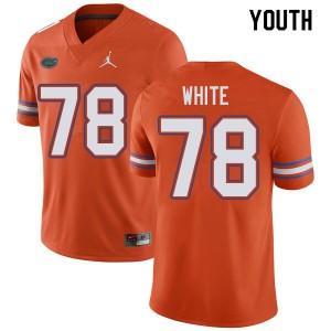 Jordan Brand Youth #78 Ethan White Florida Gators College Football Jerseys Orange 206425-776
