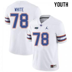 Jordan Brand Youth #78 Ethan White Florida Gators College Football Jerseys White 114447-862