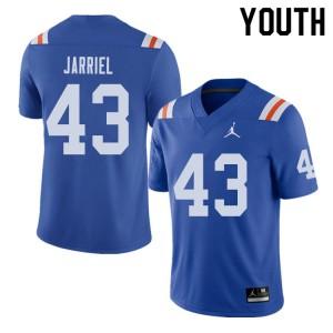 Jordan Brand Youth #43 Glenn Jarriel Florida Gators Throwback Alternate College Football Jerseys 825653-708