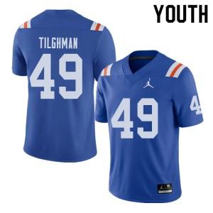 Jordan Brand Youth #49 Jacob Tilghman Florida Gators Throwback Alternate College Football Jerseys 291089-404