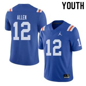 Jordan Brand Youth #12 Jake Allen Florida Gators Throwback Alternate College Football Jerseys Royal 618131-208