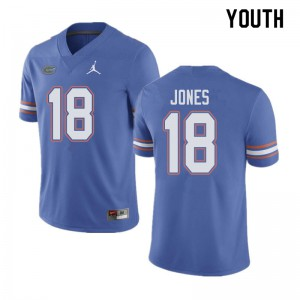 Jordan Brand Youth #18 Jalon Jones Florida Gators College Football Jerseys Blue 906622-827
