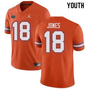 Jordan Brand Youth #18 Jalon Jones Florida Gators College Football Jerseys Orange 510803-258
