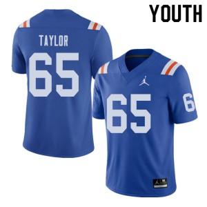Jordan Brand Youth #65 Jawaan Taylor Florida Gators Throwback Alternate College Football Jerseys 452782-529
