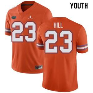 Jordan Brand Youth #23 Jaydon Hill Florida Gators College Football Jerseys Orange 533526-502