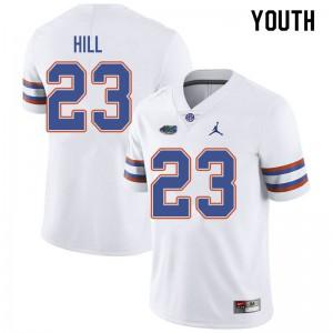 Jordan Brand Youth #23 Jaydon Hill Florida Gators College Football Jerseys White 195348-540