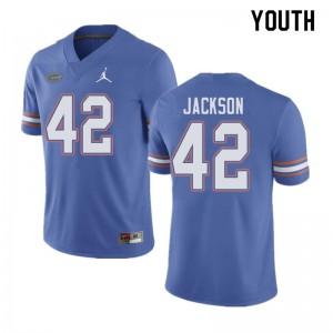 Jordan Brand Youth #42 Jaylin Jackson Florida Gators College Football Jerseys Blue 287401-229