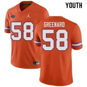 Jordan Brand Youth #58 Jonathan Greenard Florida Gators College Football Jerseys Orange 943251-946