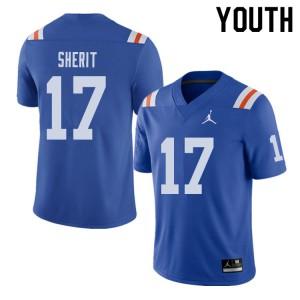 Jordan Brand Youth #17 Jordan Sherit Florida Gators Throwback Alternate College Football Jerseys 696554-935