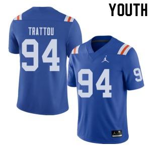 Jordan Brand Youth #94 Justin Trattou Florida Gators Throwback Alternate College Football Jerseys 346652-852