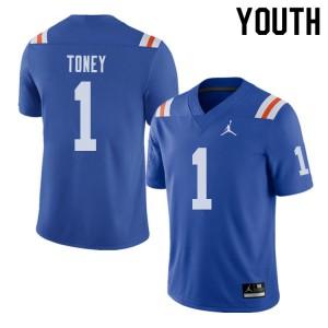 Jordan Brand Youth #1 Kadarius Toney Florida Gators Throwback Alternate College Football Jerseys 900601-128