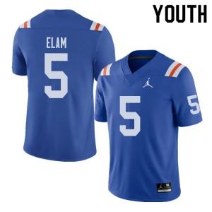 Jordan Brand Youth #5 Kaiir Elam Florida Gators Throwback Alternate College Football Jerseys Royal 921093-778