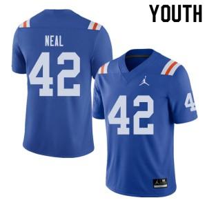 Jordan Brand Youth #42 Keanu Neal Florida Gators Throwback Alternate College Football Jerseys Royal 414882-228