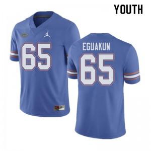 Jordan Brand Youth #65 Kingsley Eguakun Florida Gators College Football Jerseys Blue 759151-615