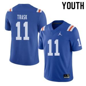 Jordan Brand Youth #11 Kyle Trask Florida Gators Throwback Alternate College Football Jerseys Royal 993864-548