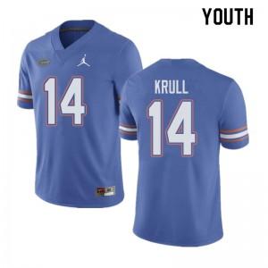 Jordan Brand Youth #14 Lucas Krull Florida Gators College Football Jerseys Blue 246276-946