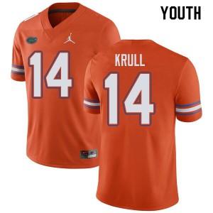 Jordan Brand Youth #14 Lucas Krull Florida Gators College Football Jerseys Orange 787740-794