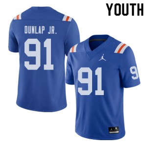 Jordan Brand Youth #91 Marlon Dunlap Jr. Florida Gators Throwback Alternate College Football Jerseys 307047-359