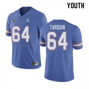 Jordan Brand Youth #64 Michael Tarquin Florida Gators College Football Jerseys Blue 339181-588