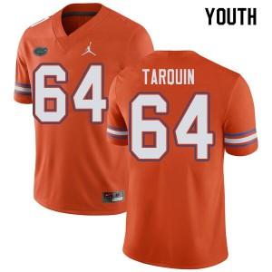 Jordan Brand Youth #64 Michael Tarquin Florida Gators College Football Jerseys Orange 378186-112