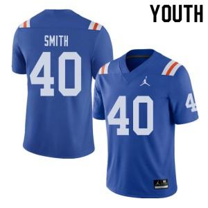 Jordan Brand Youth #40 Nick Smith Florida Gators Throwback Alternate College Football Jerseys Royal 994709-998