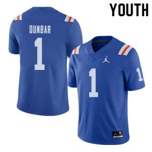 Jordan Brand Youth #1 Quinton Dunbar Florida Gators Throwback Alternate College Football Jerseys 848031-314