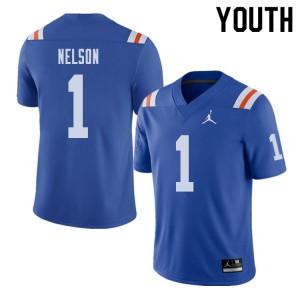 Jordan Brand Youth #1 Reggie Nelson Florida Gators Throwback Alternate College Football Jerseys 175182-882