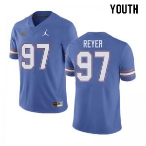 Jordan Brand Youth #97 Theodore Reyer Florida Gators College Football Jerseys Blue 207118-345