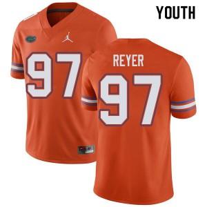 Jordan Brand Youth #97 Theodore Reyer Florida Gators College Football Jerseys Orange 730858-947